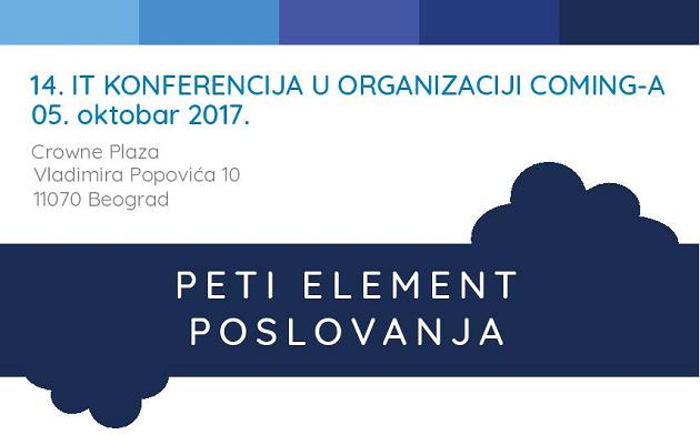 Dođi na 14. IT konferenciju u Crowne Plazu!