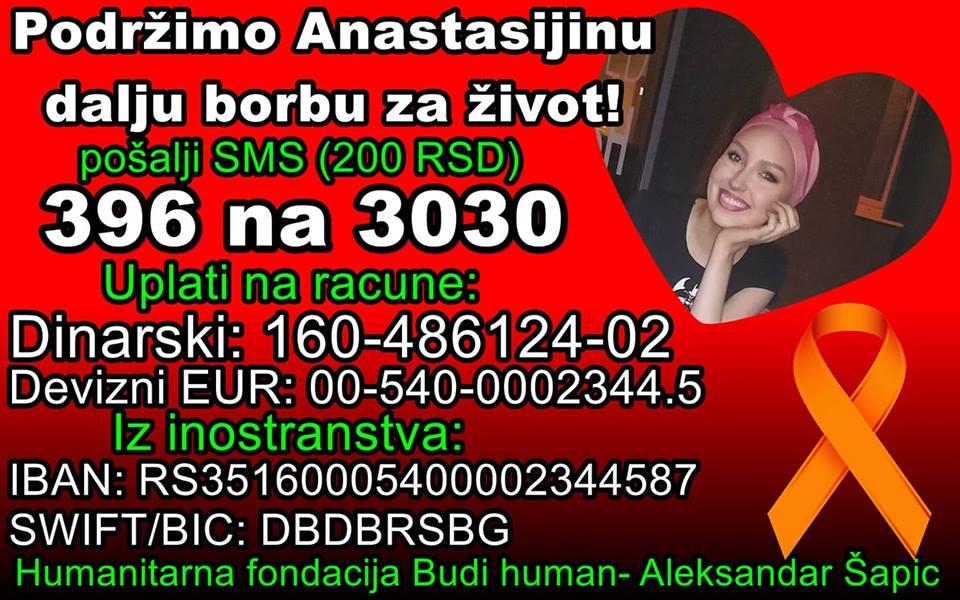 Pomozimo Anastasiji Gavrilović da pobedi u najvećoj bici