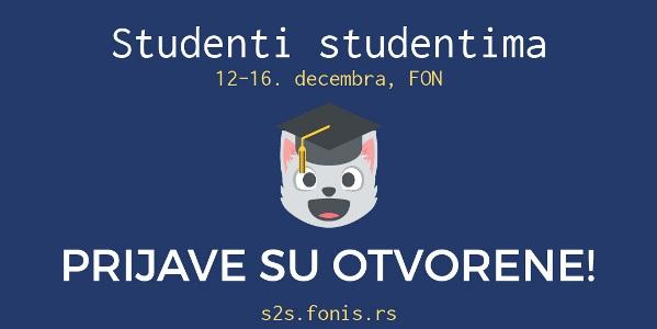 """Učestvujte na projektu """"Studenti studentima""""!"""