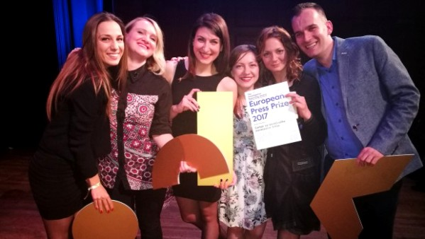CINS dobio prestižnu Evropsku novinarsku nagradu