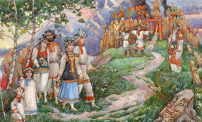Ko je boravio na panteonu Starih Slovena?