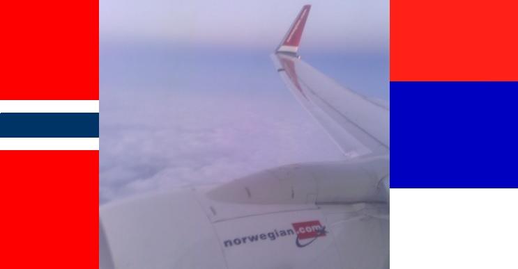 Srbija - Norveška. Prvi sudar